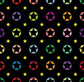 Seamless star background Royalty Free Stock Images