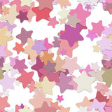 Seamless star background pattern - vector design from rounded pentagram stars in colorful tones with shadow effect. Seamless chaotic star background pattern Stock Photos