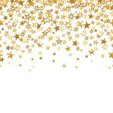 Seamless star gold confetti white background isolated vector