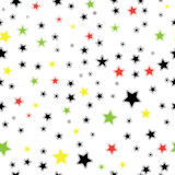 Seamless Star Monochrome Background. Template for Stock Photography