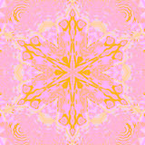 Seamless star ornament yellow pink violet mauve Royalty Free Stock Images