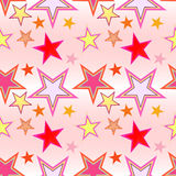 Seamless star pattern. Seamless preparation for the designer Royalty Free Stock Images