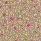 Seamless Star Pattern Royalty Free Stock Photos