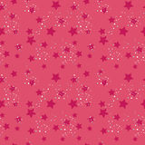 Seamless star pattern. Seamless star background (red and pink Royalty Free Stock Image
