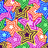 Seamless star pattern Stock Image