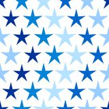 Seamless star pattern Stock Photography