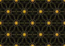 Seamless star pattern gold black Royalty Free Stock Images