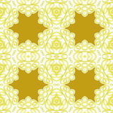 Seamless star pattern golden white Royalty Free Stock Image