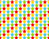 Seamless star pattern in shiny colors Royalty Free Stock Images