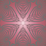 Seamless star pattern silver red Stock Photo