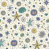 Seamless star pattern royalty free illustration