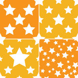 Seamless star pattern 4 style Stock Photography