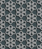 Seamless Star Pattern. Vector Background. Gray Regular Texture Royalty Free Stock Photos