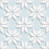 Seamless Star Pattern. White and Blue Wrapping Background Royalty Free Stock Photo