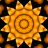 Seamless star pattern yellow gold black shiny Stock Photography