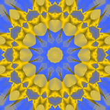Seamless star pattern yellow gold blue Stock Photography