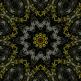 Seamless star pattern yellow orange gray black royalty free stock photos