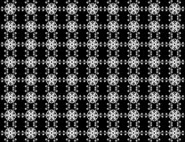 Seamless Star snowflakes pattern on background. Christmas seamless pattern from white snowflakes on black background Royalty Free Stock Photography