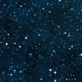 Seamless Starfield with Glowing Stars at Night Royalty Free Stock Photos