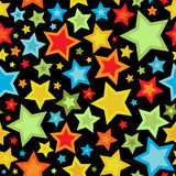 Seamless starry pattern Royalty Free Stock Images