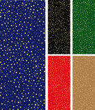 Seamless starry pattern. A christmas starry night seamless pattern in five flavour Stock Photography