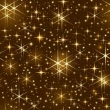 Seamless starry sky, christmas sparkle Stock Images