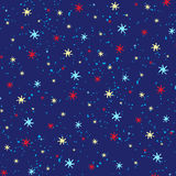 Seamless starry sky ornament Stock Images