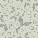 Seamless stars. Seamless hand drawing stars - vector background Stock Images