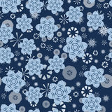 Seamless stars abstract pattern Royalty Free Stock Images