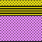 Seamless stars bright pattern. In yellow and pink colors Royalty Free Stock Images