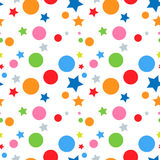 Seamless stars and circles background Royalty Free Stock Image