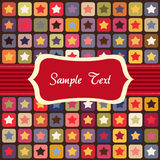 Seamless stars colorful pattern Royalty Free Stock Image