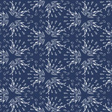 Seamless stars - feathers -  leaves  pattern background. Vector Stock Photography