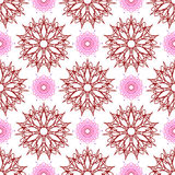 Seamless of stars like flowers and weaving flowers with points Royalty Free Stock Photography