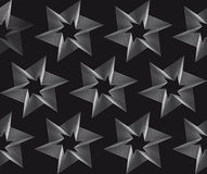 Seamless stars pattern on black background Royalty Free Stock Photo