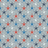 Seamless stars pattern Royalty Free Stock Photos