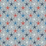 Seamless stars pattern Royalty Free Stock Photos