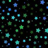 Seamless stars pattern Stock Image