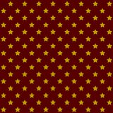Seamless Stars Pattern in Retro Red. Vector Stock Photo