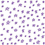 Seamless stars pattern. Vector background. Royalty Free Stock Image