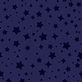 Seamless stars pattern vector Stock Photography
