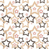 Seamless stars pattern Royalty Free Stock Image