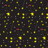 Seamless Stars and Planets vector illustration