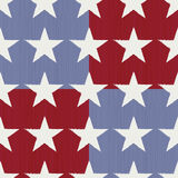 Seamless Stars and Stripes. Pattern with slightly distressed feel. Vintage look Vector Illustration