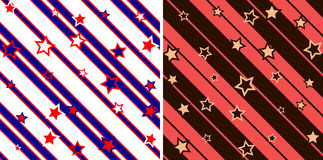 Seamless stars and stripes pattern Royalty Free Stock Photo