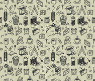 Free Seamless Stationery Pattern Royalty Free Stock Photography - 14772327