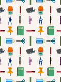 Seamless Stationery pattern Royalty Free Stock Photography