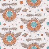 Seamless steampunk pattern Stock Photography