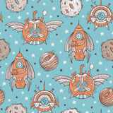 Seamless steampunk pattern Royalty Free Stock Photography