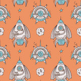Seamless steampunk pattern Stock Images